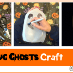 Milk Jug Ghosts Craft, Halloween Crafts, crafts for kids