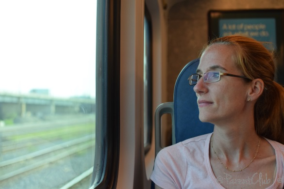 Caroline on GO Transit Train