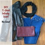 No Sew DIY T-Shirt Infinity Scarf