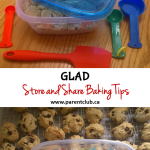 GLAD Store and Share Baking Tips