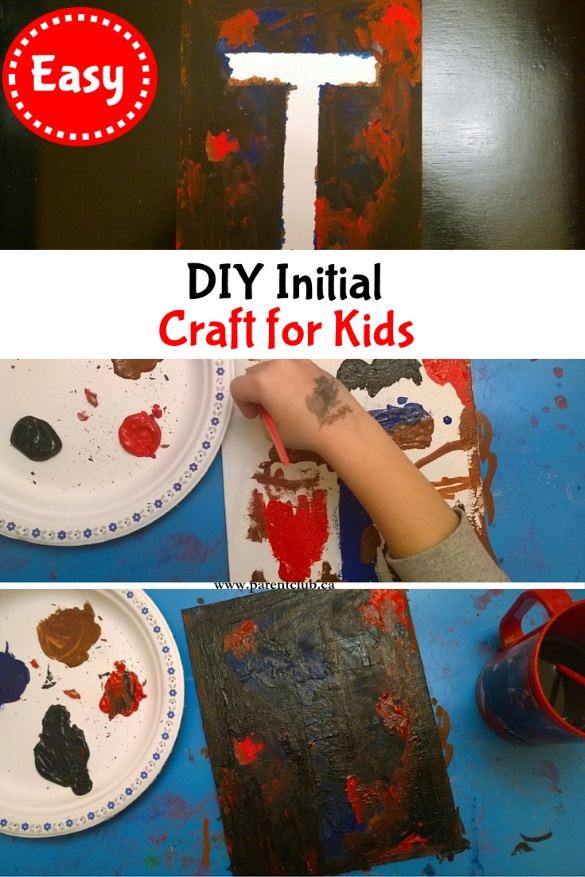 DIY Initial Craft For Kids