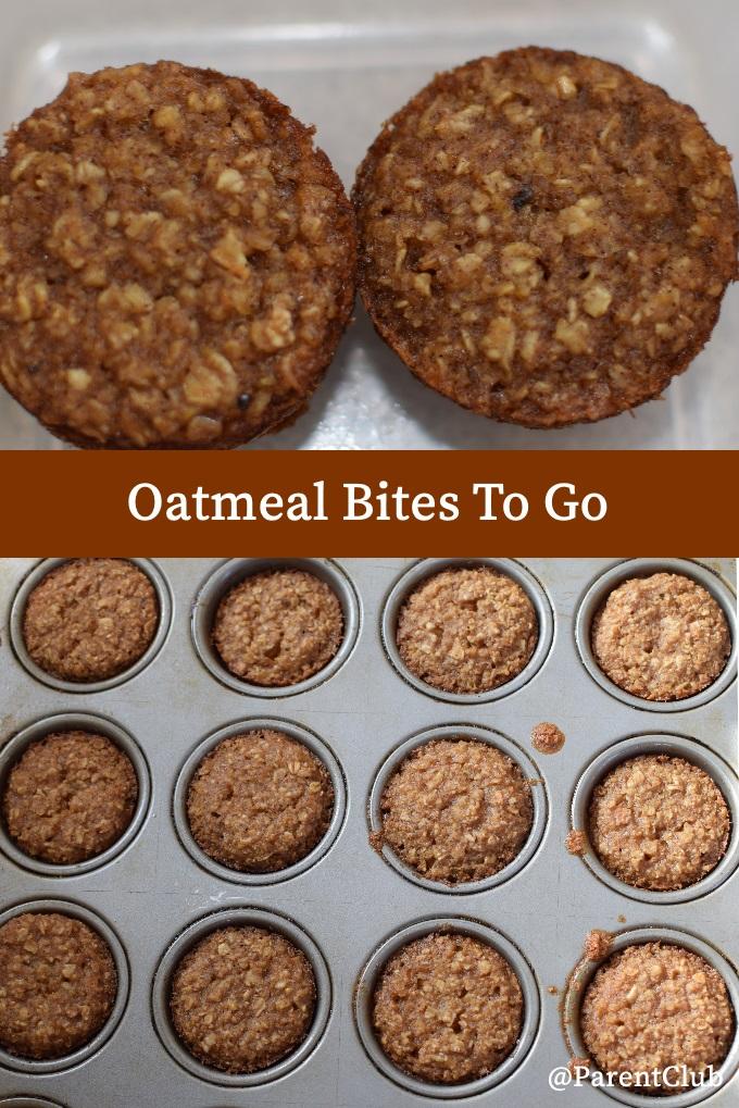 Oatmeal Bites To Go, baking, recipe