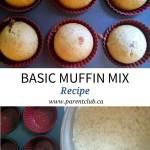 Basic Muffin Mix Recipe, Baking, Muffins