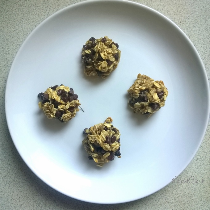 Banana Chocolate Chip Bites 3 ingredient snack recipe