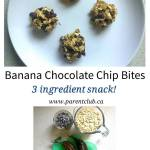 Banana Chocolate Chip Bites 3 ingredient snack