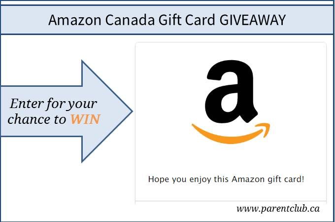 Amazon Canada Gift Card Giveaway via www.parentclub.ca