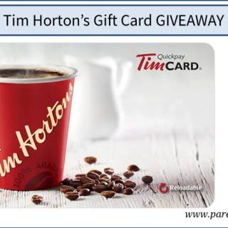 Tim Horton's Gift Card Giveaway via www.parentclub.ca