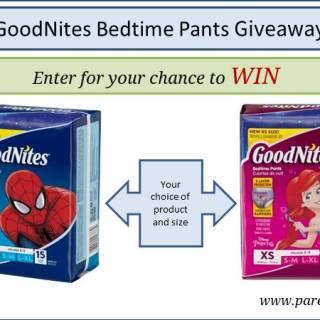 GoodNites Bedtime Pants Giveaway via www.parentclub.ca