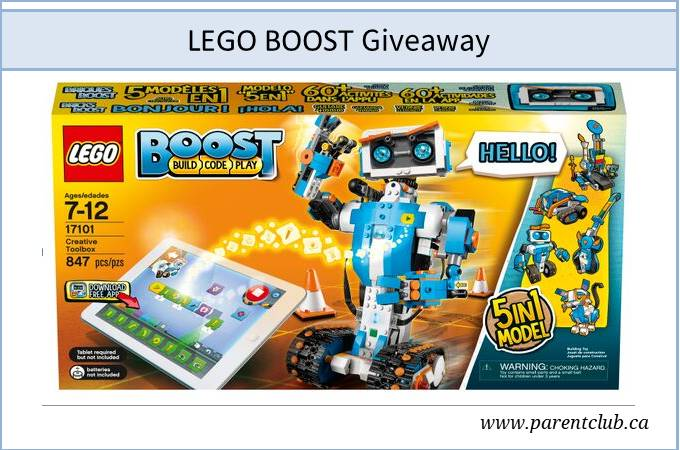 LEGO BOOST review + giveaway via www.parentclub.ca