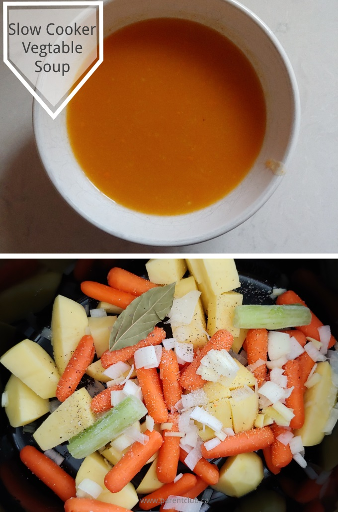 Slow Cooker Vegtable Soup via www.parentclub.ca easy recipe