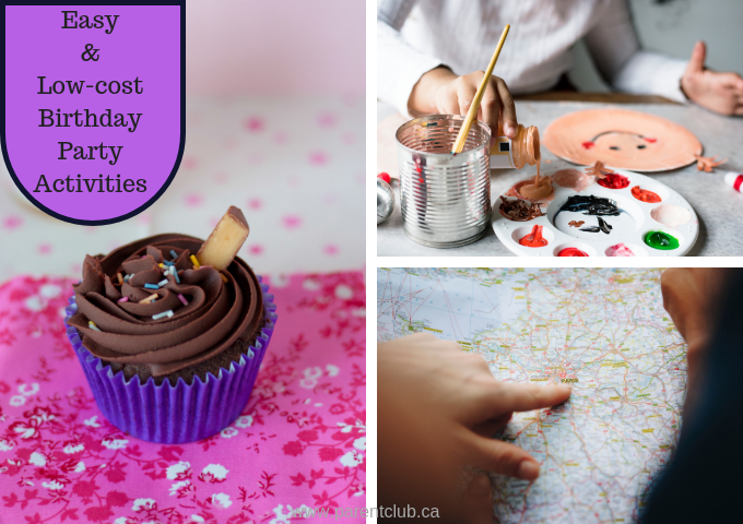 Easy and low-cost birthday party activities via www.parentclub.ca