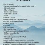 25 Easy Self Care Activities