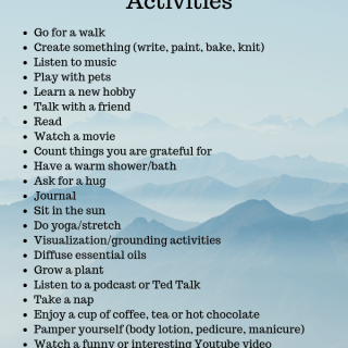 Easy self Care Activities via www.parentclub.ca