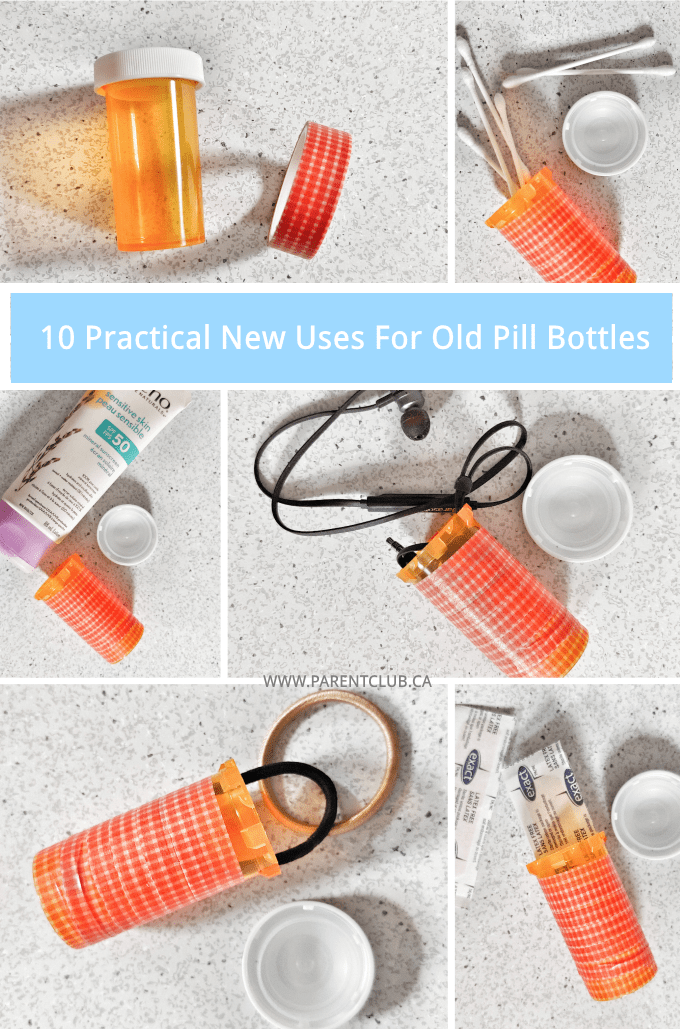10 Practical New Uses for Old Pill Bottles via www.parentclub.ca repurpose reuse recycle