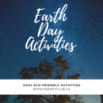 Earth Day Activities, eco friendly activities, earth hour, via www.parentclub.ca
