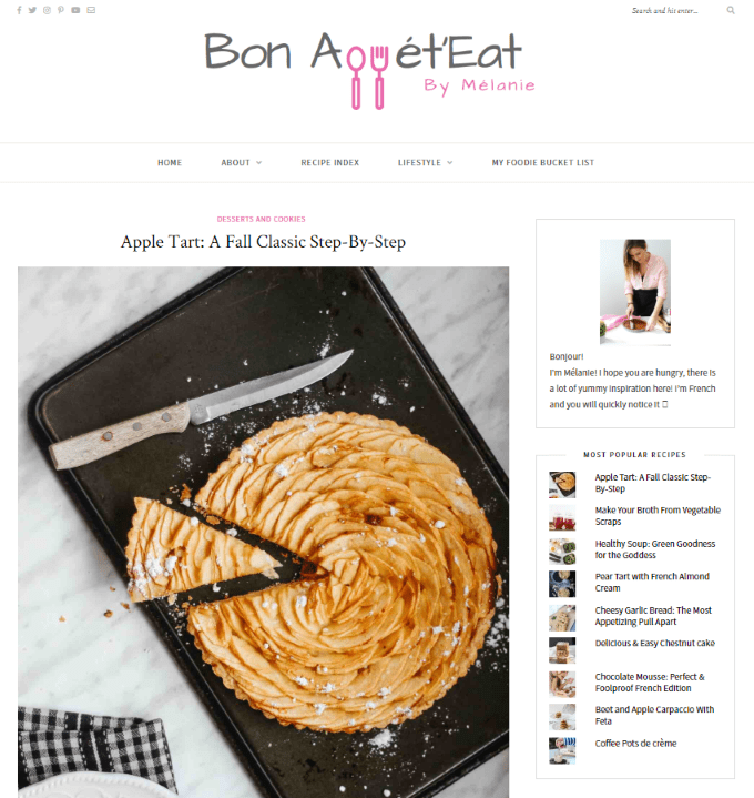 Easy Apple Tart Recipe from BonAppeteat