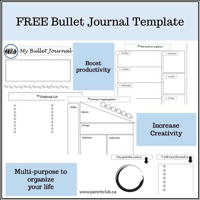 Free Bullet Journal Template