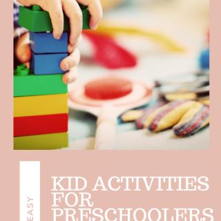 Kid Activities for Preschoolers via www.parentclub.ca