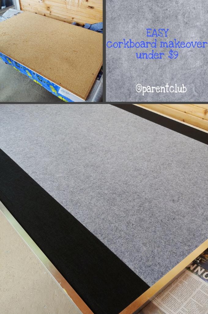 Easy Bulletin Board Makeover Under $9 via www.parentclub.ca
