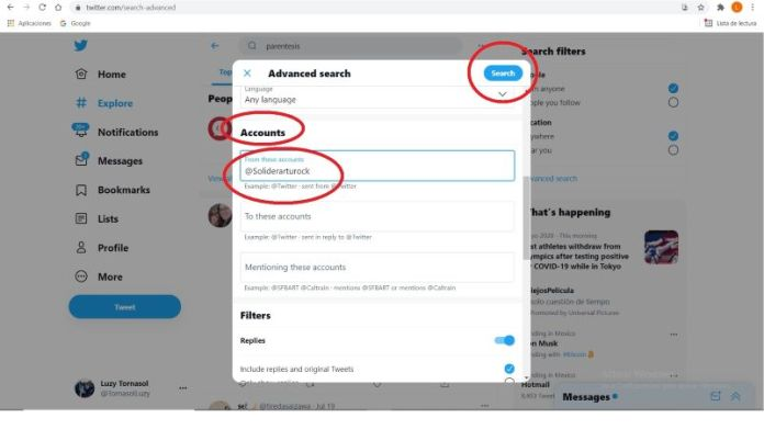 How to search for old tweets and threads on Twitter