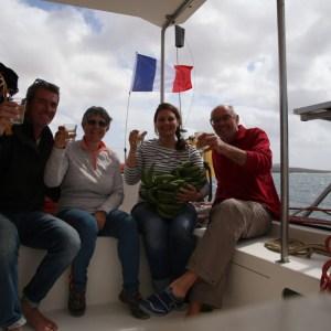 Arrivée sur l'île de Sal avec Léa et Jean-Louis