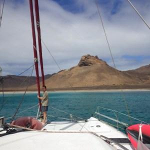 Mouillage à Ile de Santa Luzia, île déserte