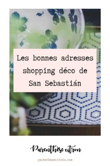 Les bonnes adresses shopping déco de Donostia – San Sebastián
