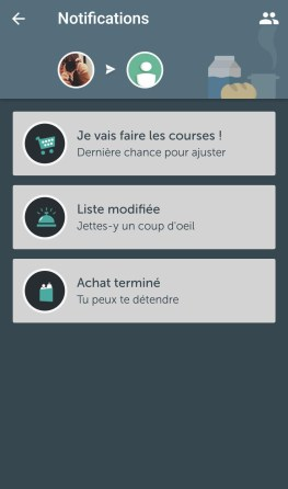 application bring android liste de courses