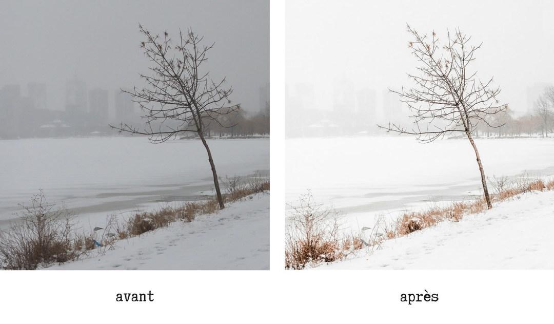 preset hiver lightroom neige