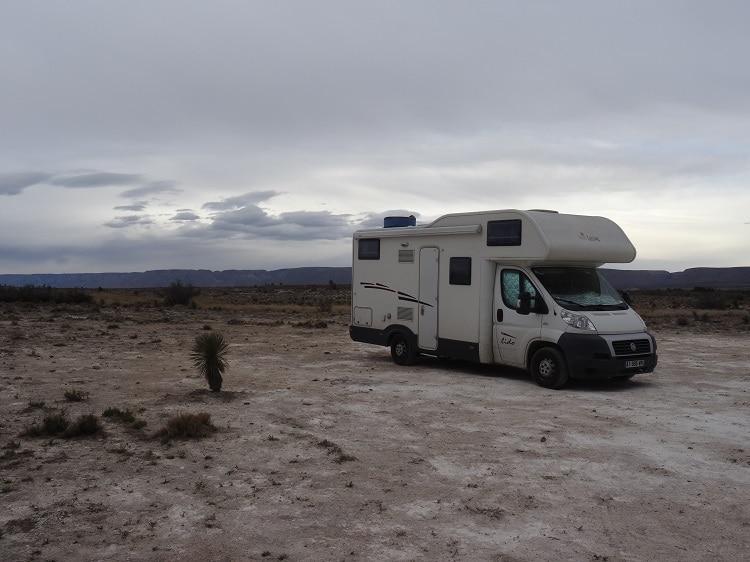 Bivouac desert sud Arizona