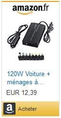 Chargeur pour ordinateur sur 12v