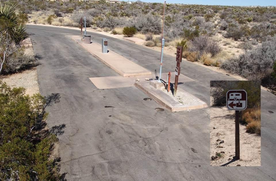 Station de vidange dans un désert du sud des Etats-Unis