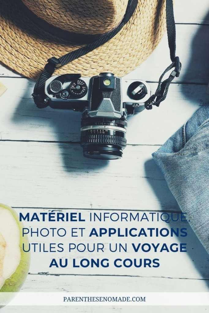 materiel informatique et applications utiles en voyage