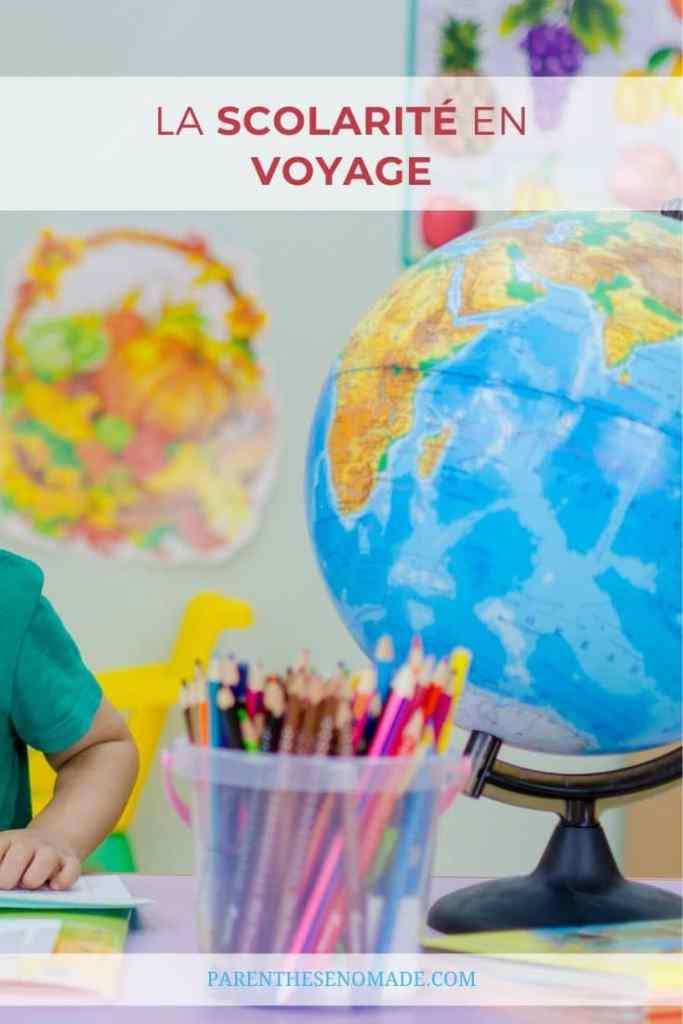 La scolarité pendant un tour du monde