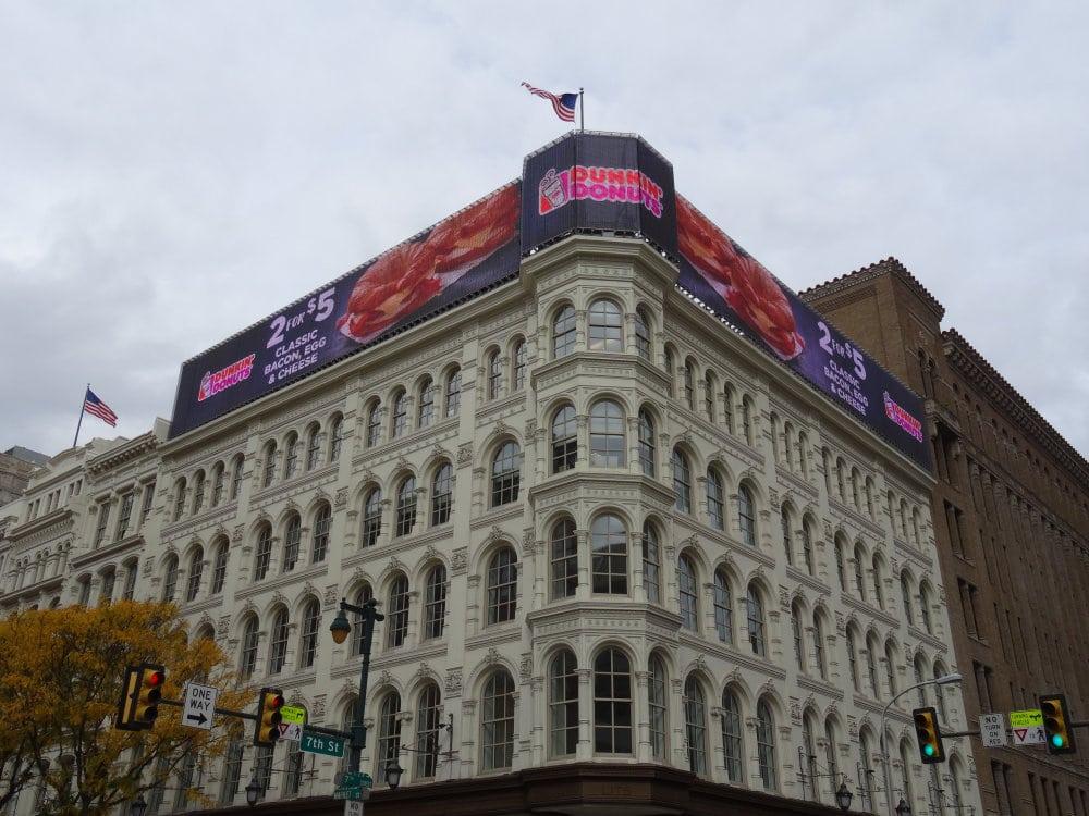 L'apparence trompeuse des immeubles du centre ville de Philadelphie