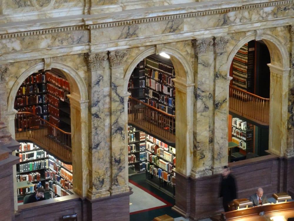 La salle de lecture de la bibliothèque du Congrés