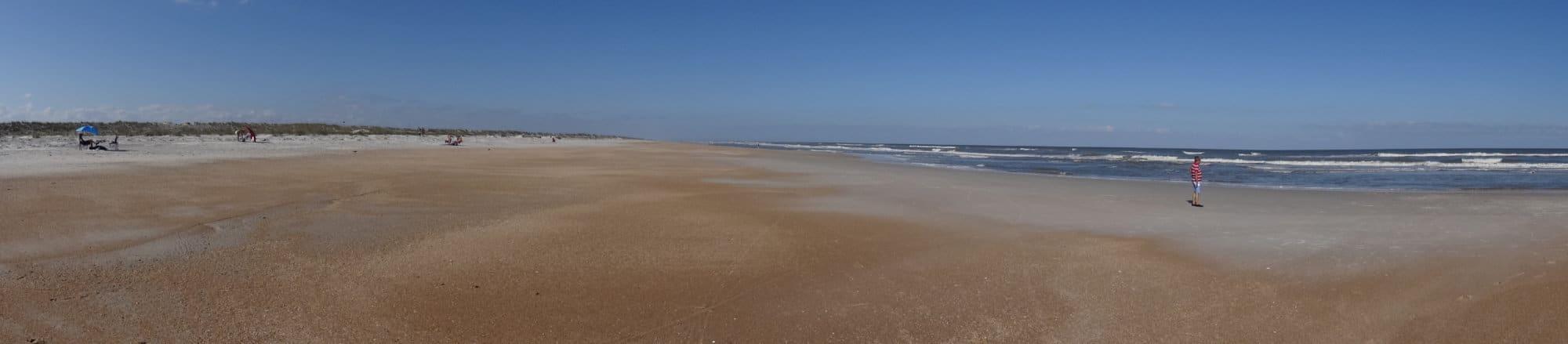 Les immenses plages océanes de Saint Augustine