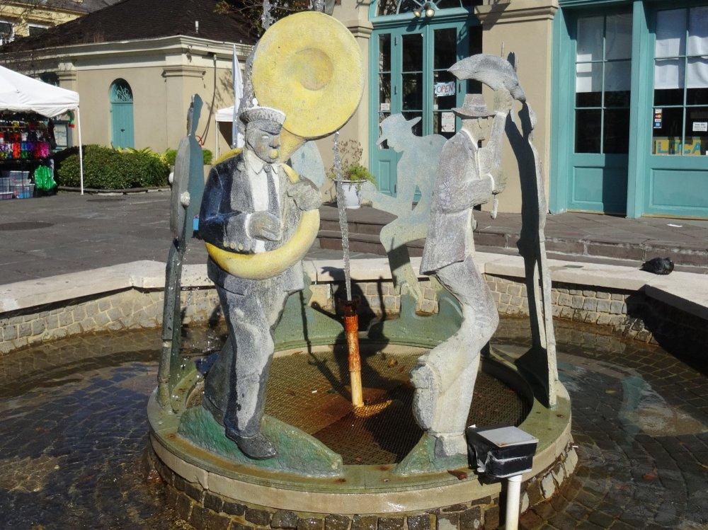 Une fontaine dédié au Jazz