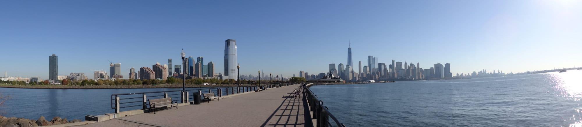 Panoramique sur la presqu'île de Manhattan