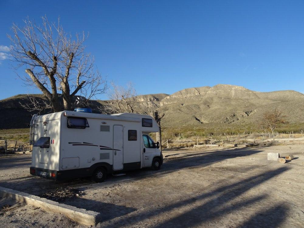 Notre premier camping à Cuatros Cienegas
