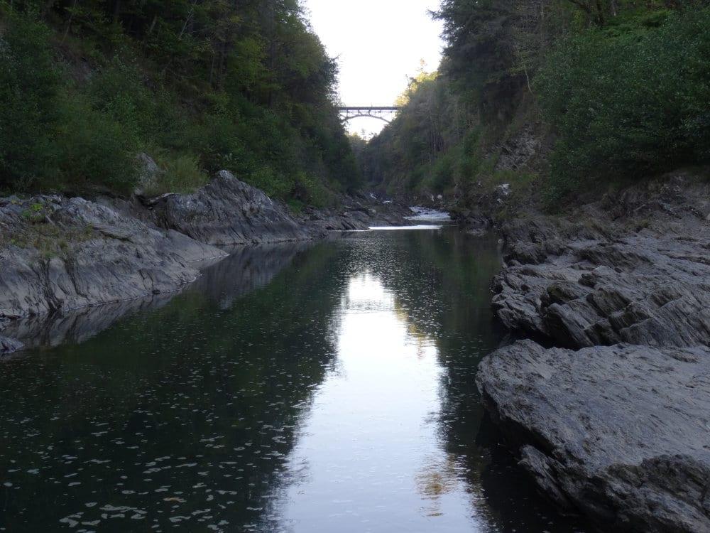Le pont des gorges du Quechee State Park