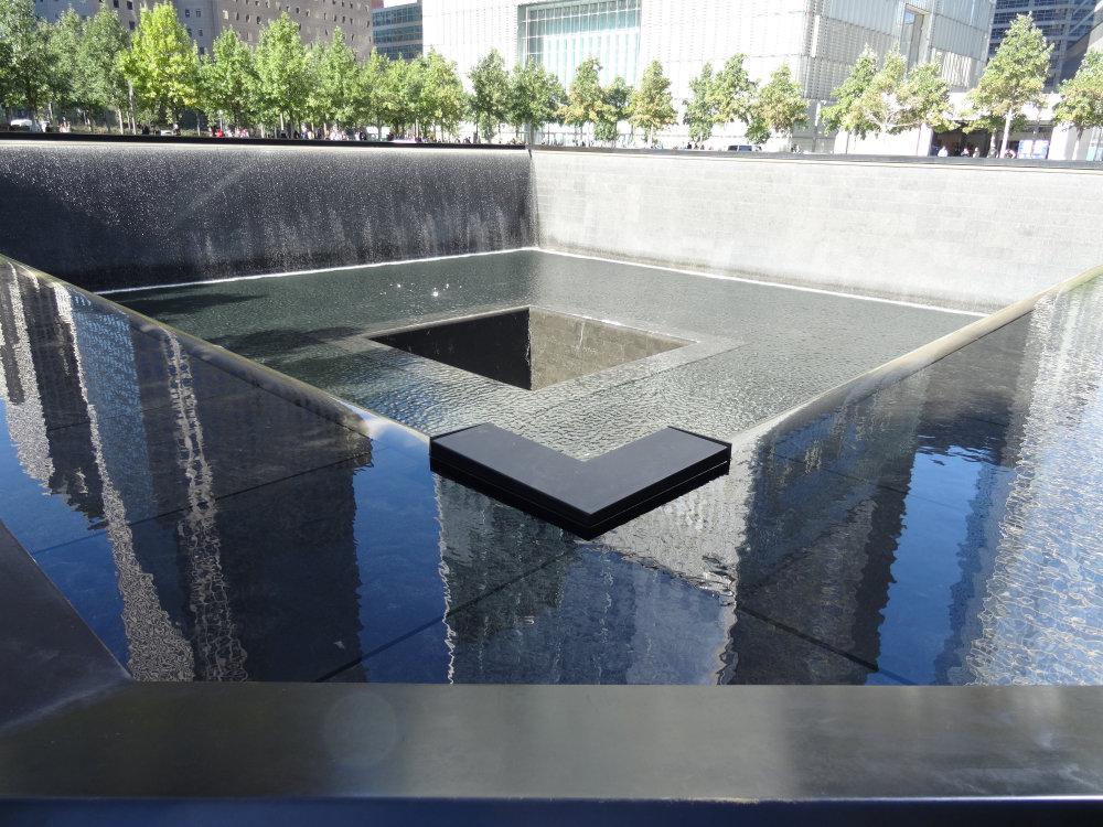 Un des bassins du 9/11 Memorial