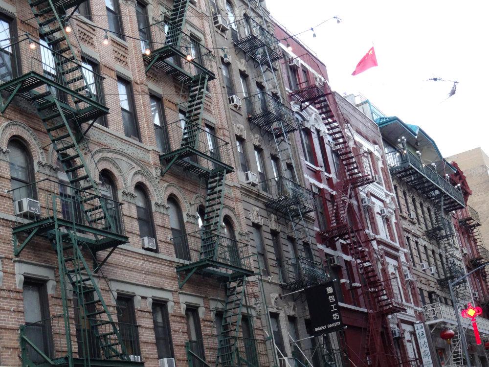 Le drapeau chinois flottant sur New York