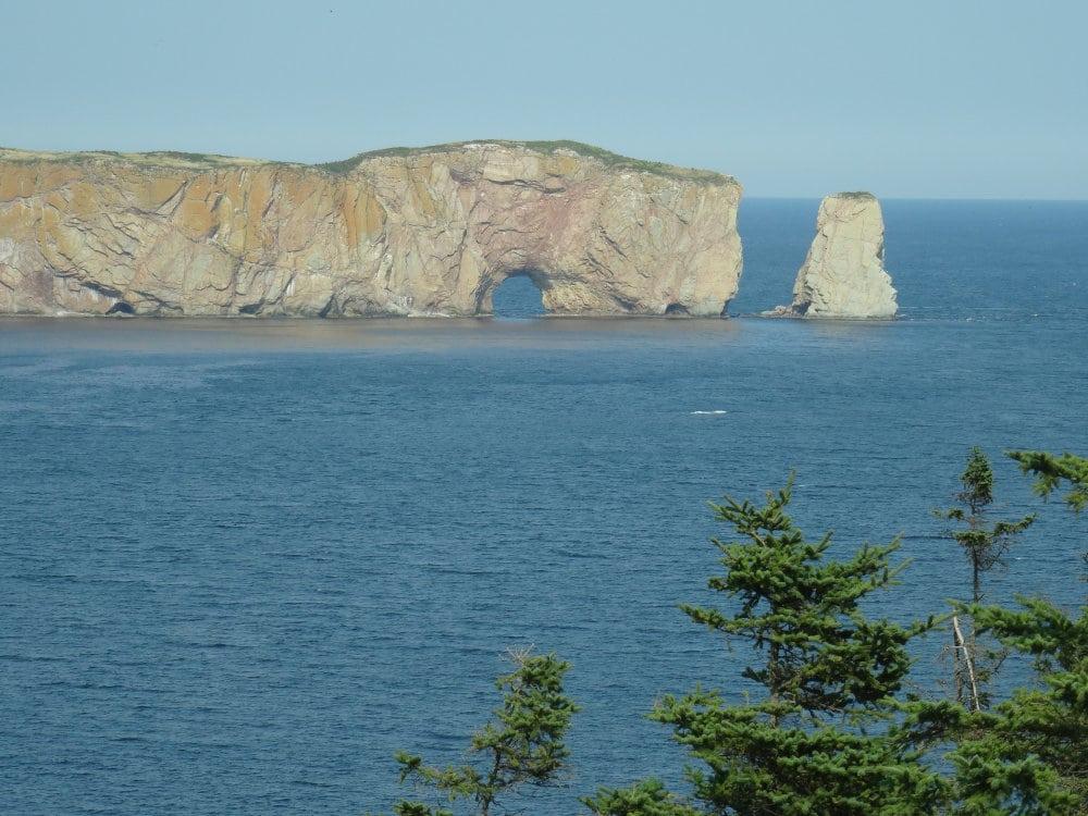Le rocher Percé, symbole de la Gaspésie.