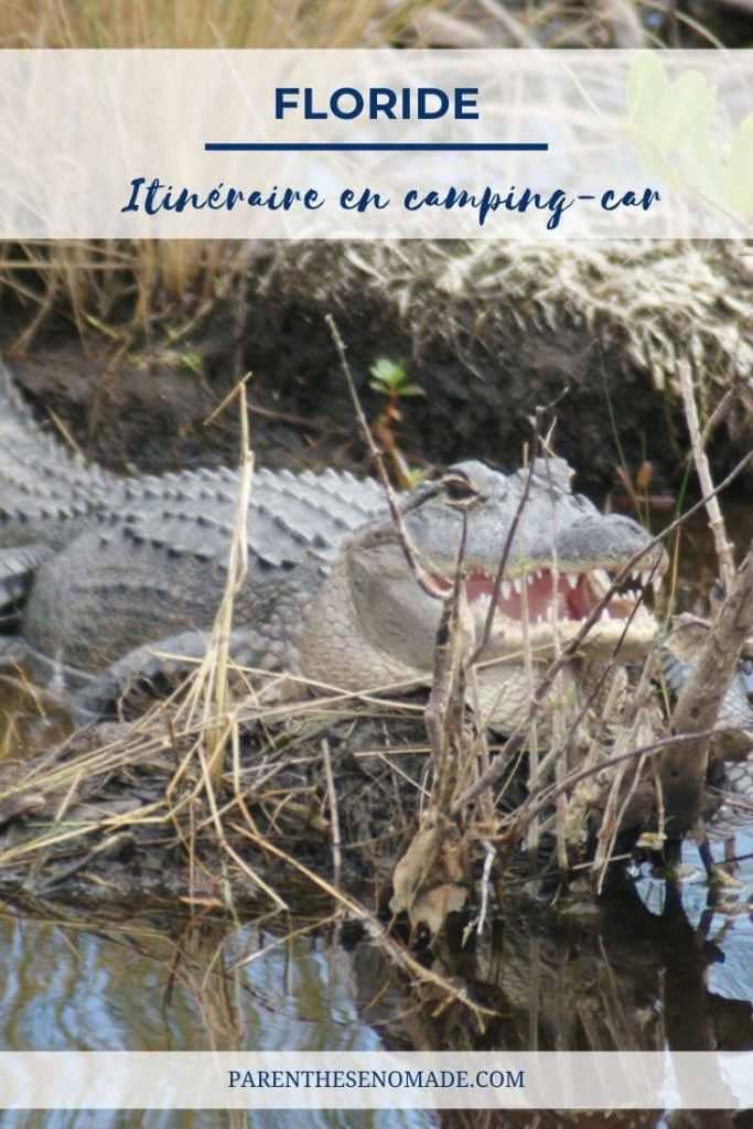 Carnet de voyage en camping-car en Floride