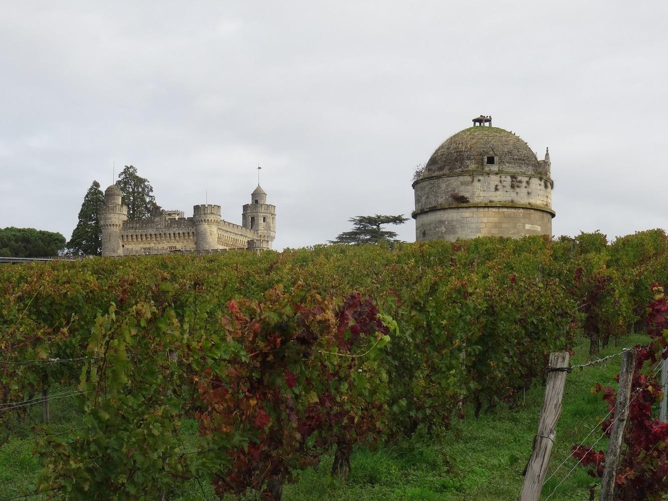 Le château de Camarsac et son pigeonnier