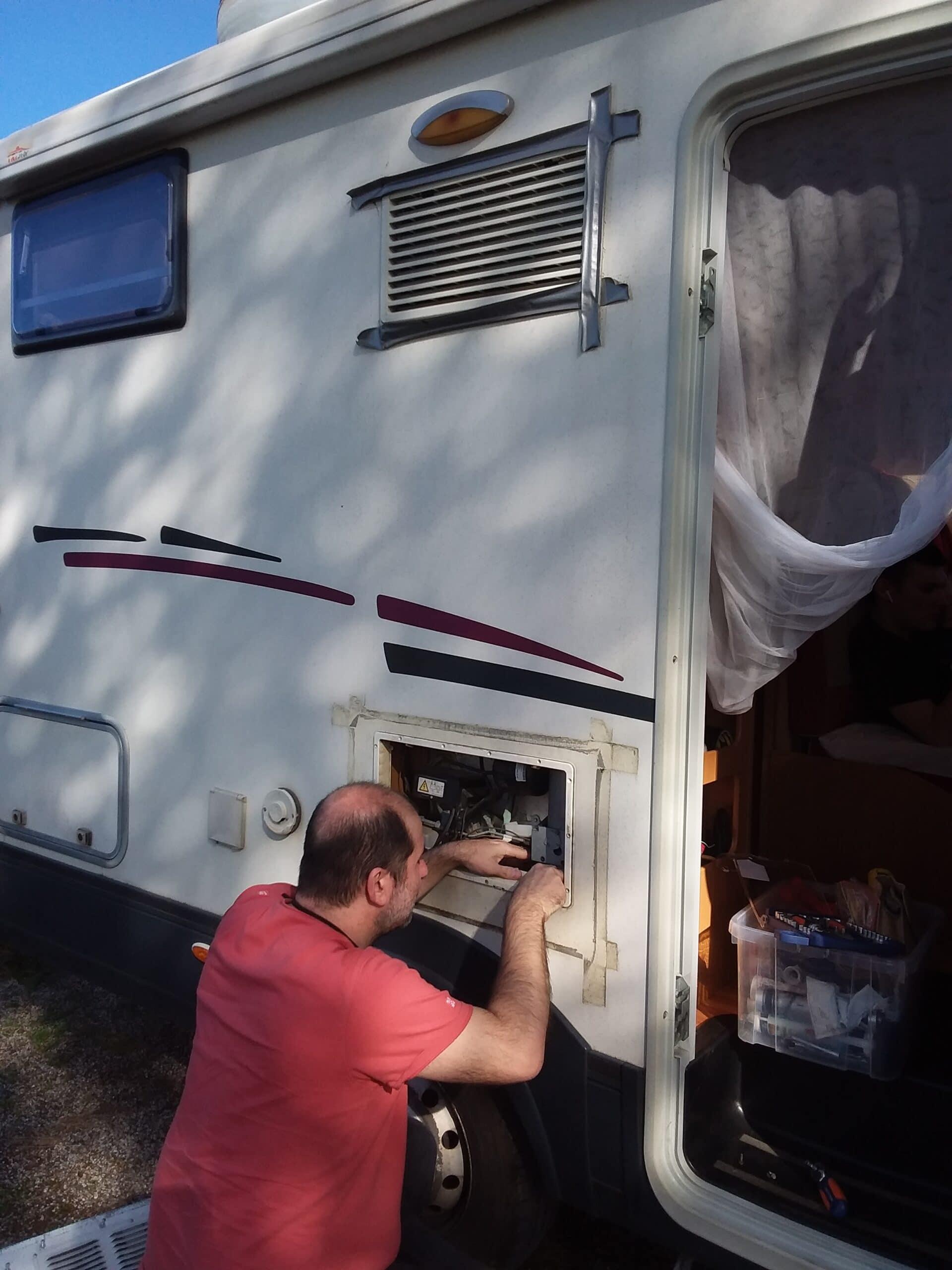 Panne du frigo sur le camping-car
