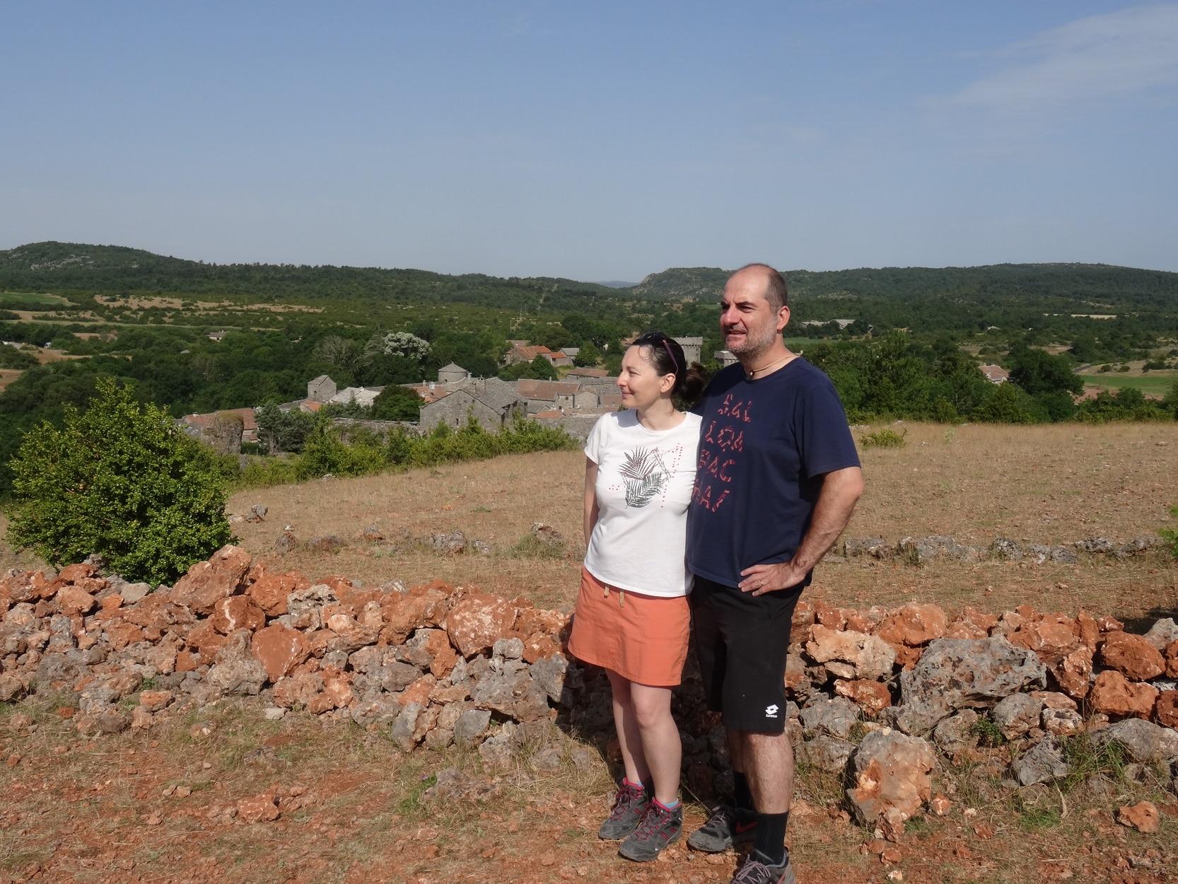 Carine et Nicolas POIRIER à La Couvertoirade