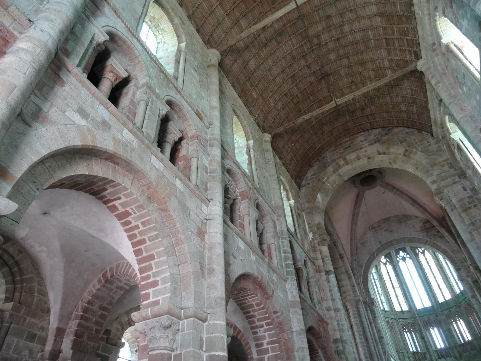 Intérieur de l'abbaye du Mont-Saint-Michel