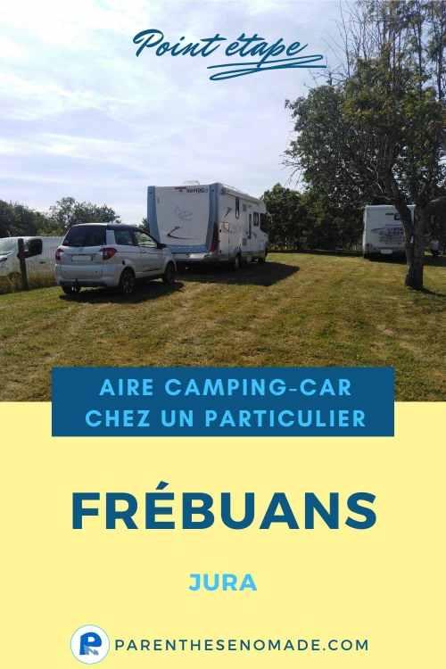 Aire camping-car chez un particulier à Frébuans - Jura